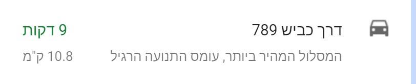 המרחק של בני יהודה מכנרת על פי גוגל מפות.